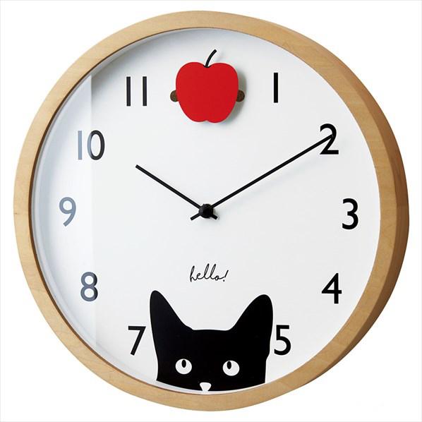 壁掛け時計 リトルウォッチャーズ-ペンデュラム- ホワイト1台 【メイチョー】