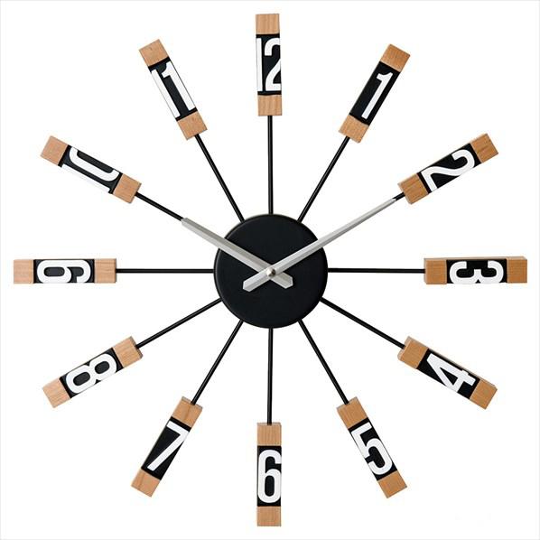 壁掛け時計 スタビスカ ブラック1台 【メイチョー】