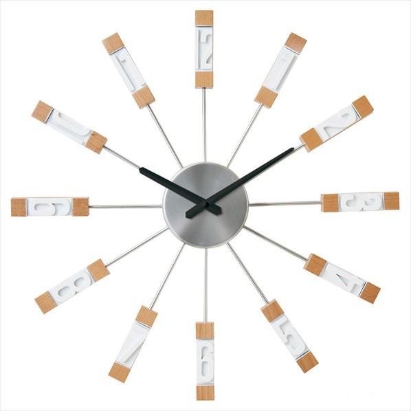 壁掛け時計 スタビスカ ホワイト1台 【メイチョー】
