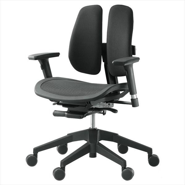 オフィスチェア α60N BLACK 1台 【メイチョー】