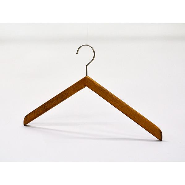 木製ハンガーブーメランスタイルソークBR42cm50本 肩厚1.3cm 【メイチョー】