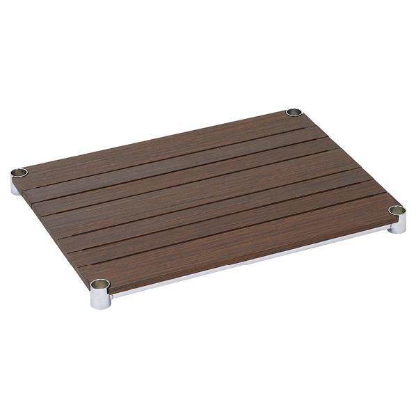 ウッドシェルフ D45cm ブラウン W76cm 【メイチョー】