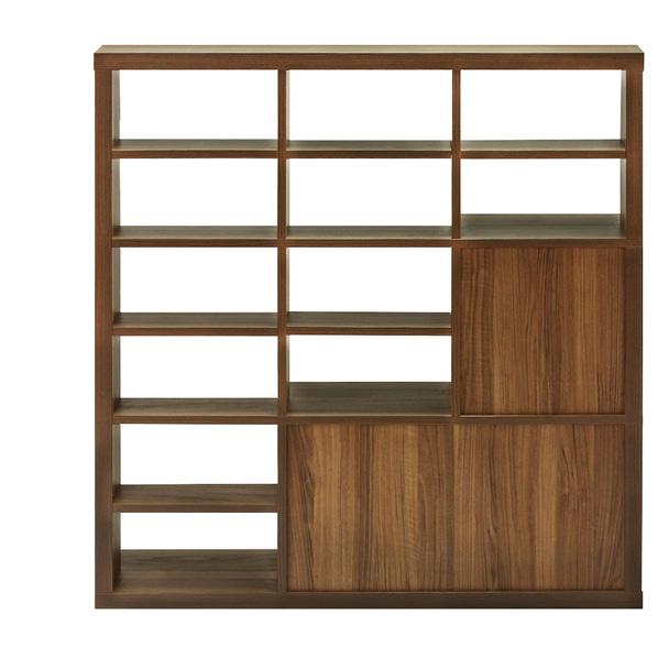 セパルテック 木製アクセントラック 格子デザイン ダークブラウン 【メイチョー】