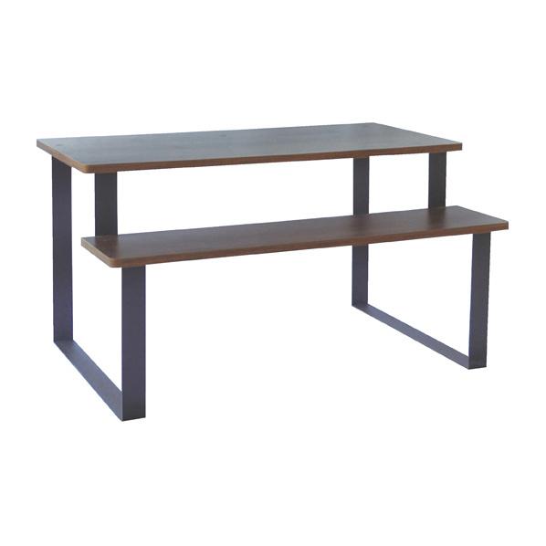 木製多段テーブル W120 【 店舗什器 ディスプレイ用テーブル 多段テーブル(木製天板) 木製多段テーブル 】【メイチョー】