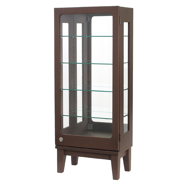 木製コレクションケース H100 ダークブラウン 【メイチョー】