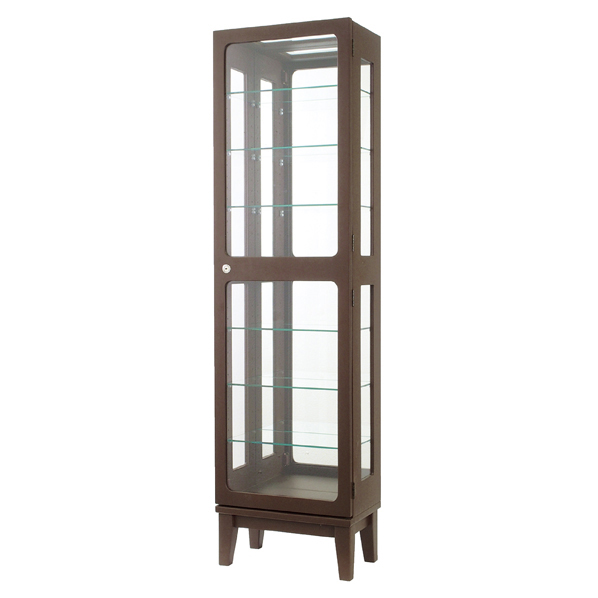 木製コレクションケース H150 ダークブラウン 【メイチョー】