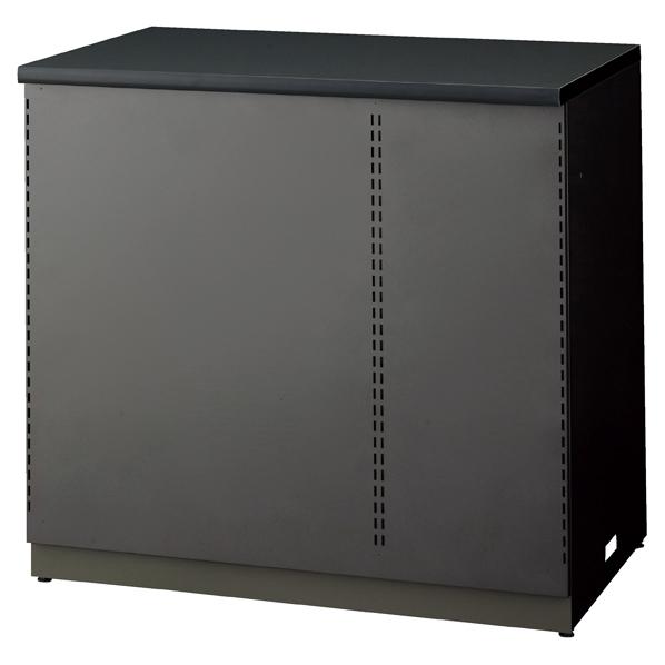 鉄地グレーカウンター 棚板タイプ W90 【メイチョー】
