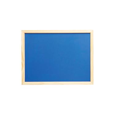 木製カラフル黒板ブルー横型 1枚 チョークタイプ 【メイチョー】