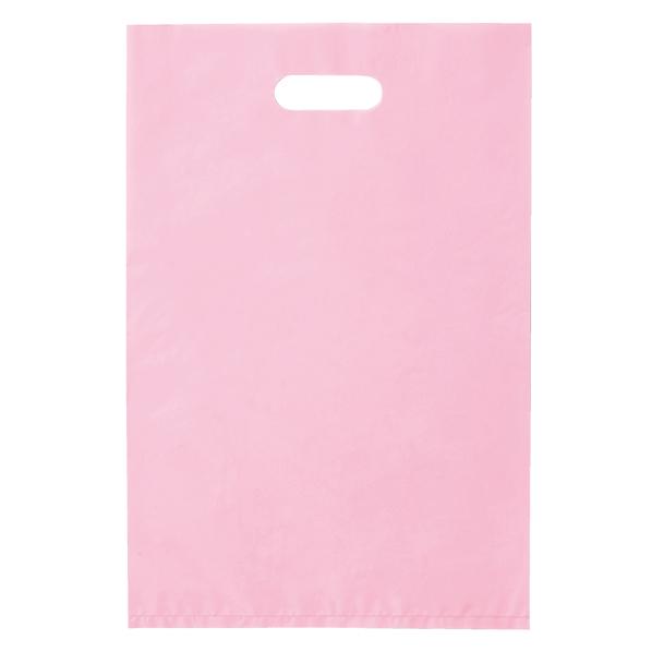 ポリ袋ハード型 ピンク 25×40cm 2000枚 【 ラッピング用品 レジ袋・ポリ袋 スクエアバッグ(無地) ポリ袋ハード型 カラー ピンク 】【メイチョー】