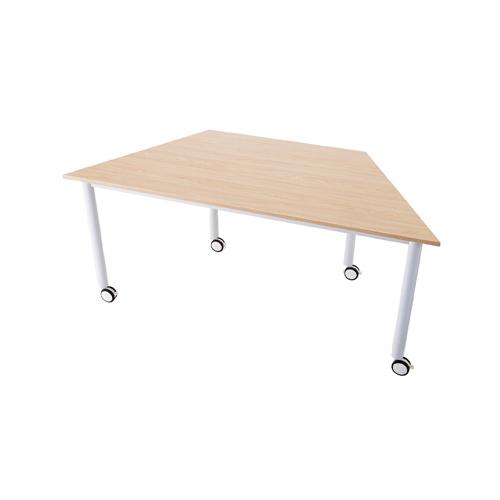 キャスターテーブル 台形 ナチュラル 1台 【メイチョー】