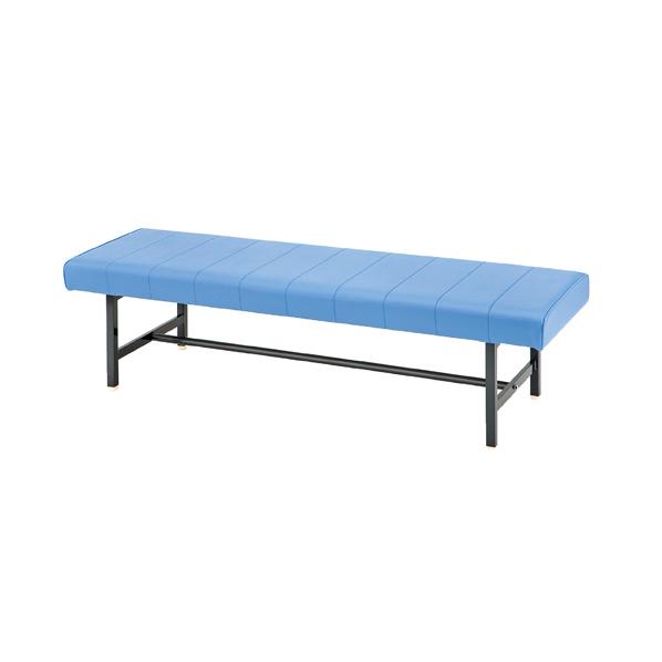 ロビーベンチ背無 W150cm ブルー 【メイチョー】