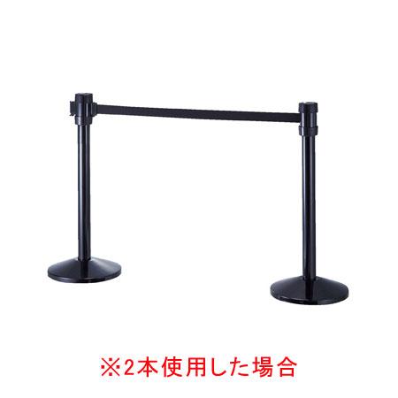 全方向スタッキングガイドポール4mブラック H90cm 【メイチョー】