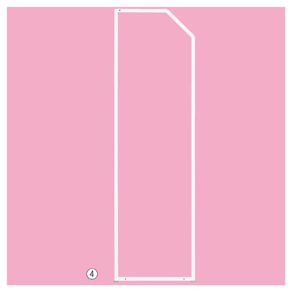 【まとめ買い10個セット品】 SF強化型片面用スラントF H135cm ホワイト (取付き金具上×1/下×2) 【メイチョー】
