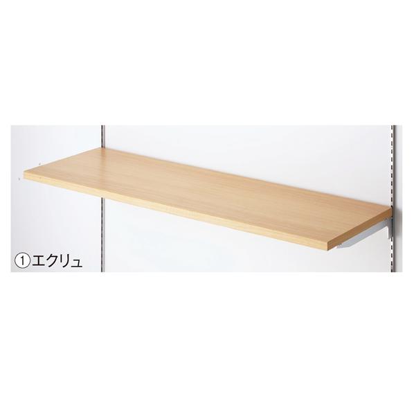 【まとめ買い10個セット品】 木棚セットW90×D20cm エクリュ (ダボ8穴/芯々588・888) 【メイチョー】