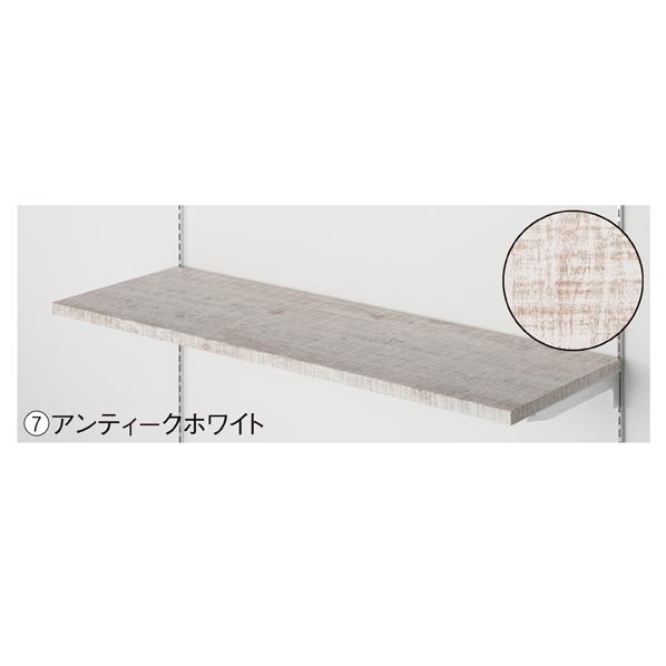 【まとめ買い10個セット品】 木棚セットW90×D35cm アンティークホワイト 【メイチョー】