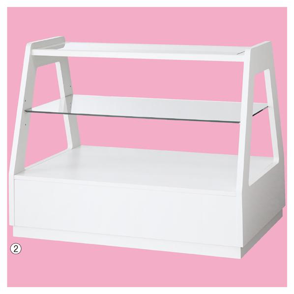 【まとめ買い10個セット品】 木製フレーム3段テーブル ホワイト 【メイチョー】