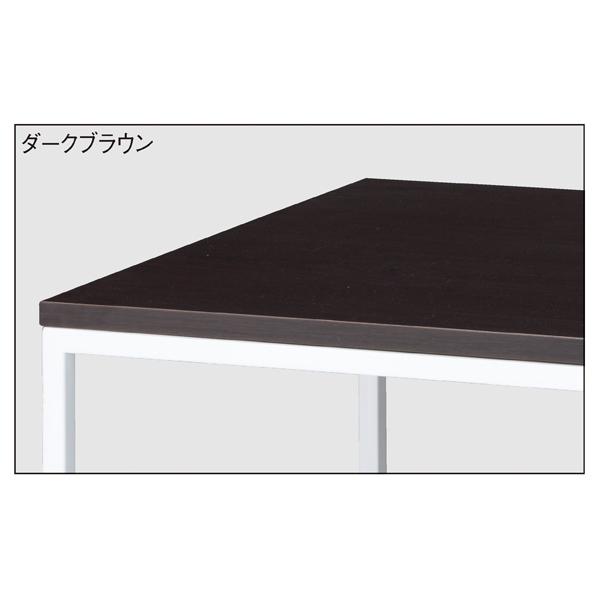 【まとめ買い10個セット品】 ホワイトショーテーブル ダークブラウン W150D80 【メイチョー】
