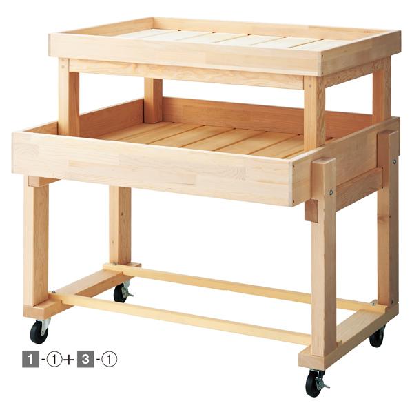 【まとめ買い10個セット品】 木製平台ワゴン無塗装W90cm 【メイチョー】