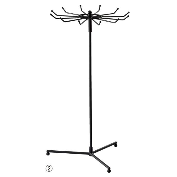 【まとめ買い10個セット品】 回転式アクセサリースタンド H50cm 黒 【メイチョー】