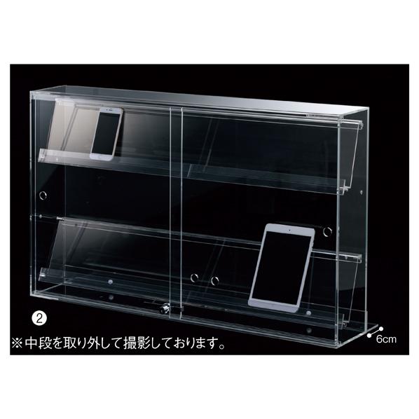 【まとめ買い10個セット品】 スマホ・タブレット卓上陳列ケース3列W88cm1台 【メイチョー】