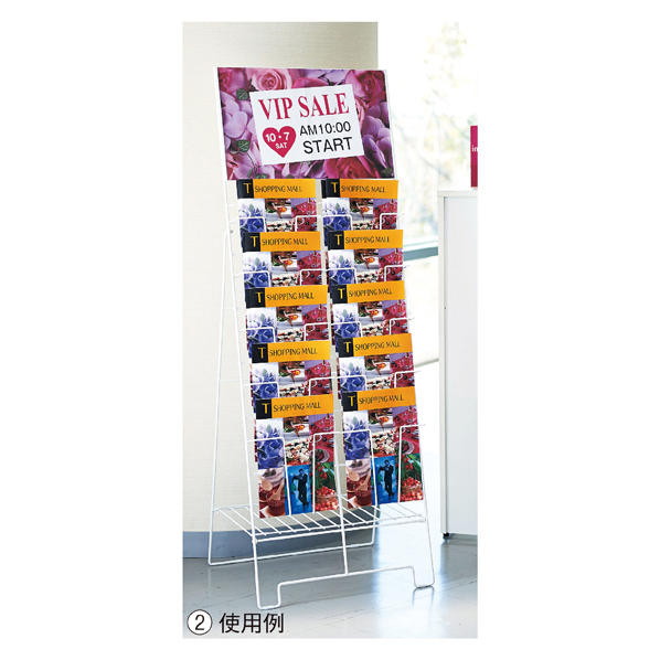 【まとめ買い10個セット品】 カタログスタンド2列 A3パネル付き 【メイチョー】