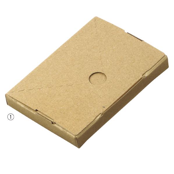【まとめ買い10個セット品】 小型配送ボックス ハガキ 400枚 15.5×11×2cm 【メイチョー】