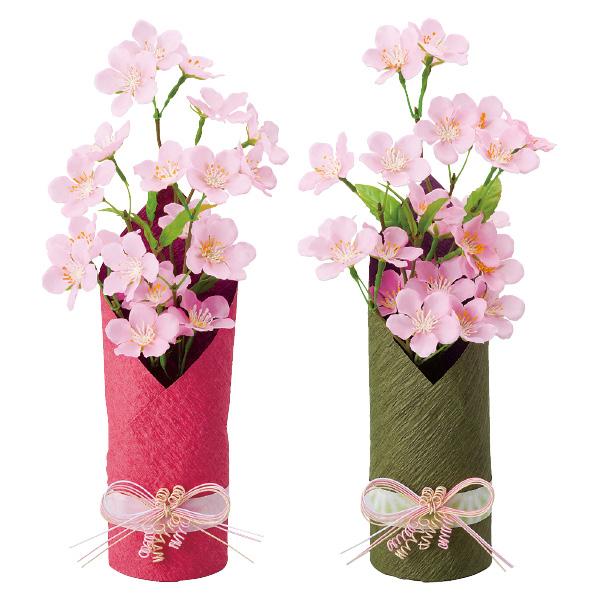 【まとめ買い10個セット品】 和風桜ポット2個 【桜 サクラ さくら 春 飾り イベント 装飾】 【メイチョー】