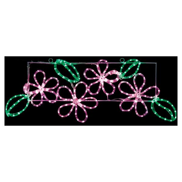 LEDチューブライト フラワーモチーフ1台 【桜 サクラ さくら 春 飾り イルミネーション イベント 装飾】 【メイチョー】