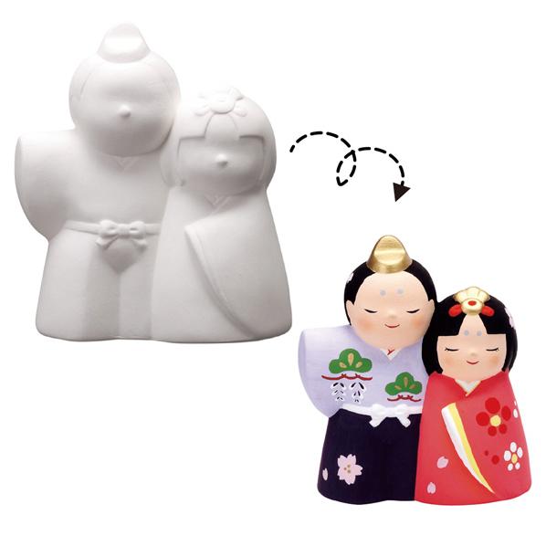 お絵かきひな人形貯金箱60個 【メイチョー】