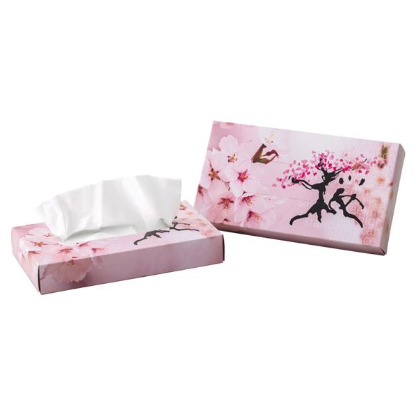 桜ティッシュ100個 【メイチョー】