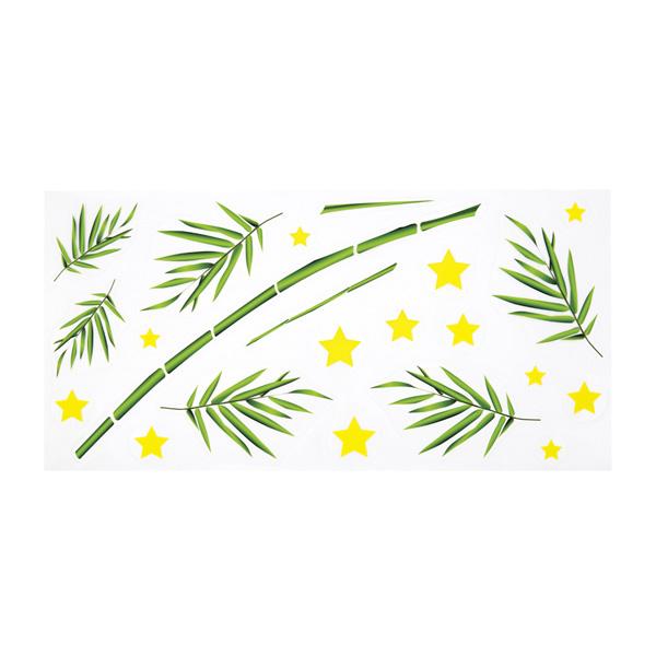 【まとめ買い10個セット品】 七夕ウインドウシール 笹1セット 【メイチョー】