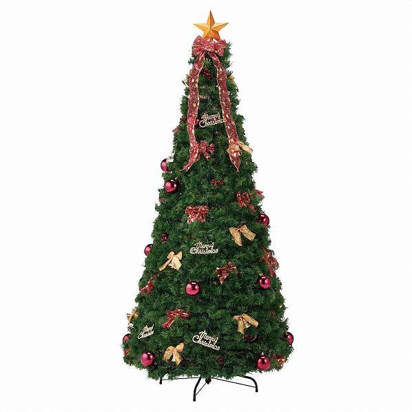 ポップアップツリー レッドH195cm1セット【クリスマス クリスマスツリー ツリー 店舗装飾 飾り ディスプレイ christmas xmas】【メイチョー】