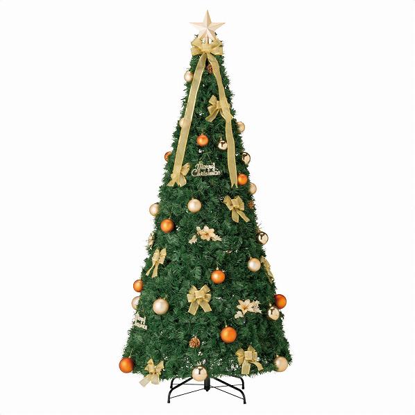 ポップアップツリー ゴールドH195cm1セット【クリスマス クリスマスツリー ツリー 店舗装飾 飾り ディスプレイ christmas xmas】【メイチョー】