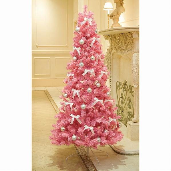 ピンクツリー H150×W80cm1本【クリスマス クリスマスツリー ツリー 店舗装飾 飾り ディスプレイ christmas xmas】【メイチョー】