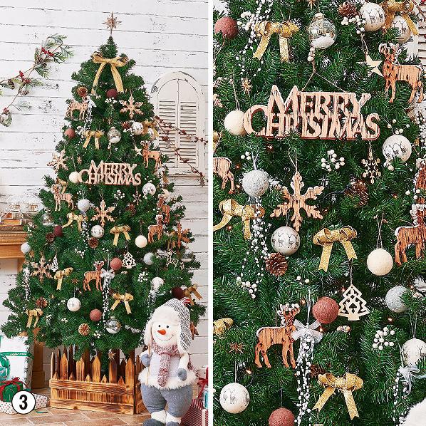 ウッディーナチュラルツリーセット H210*W120cm【クリスマス クリスマスツリー ツリー 店舗装飾 飾り ディスプレイ christmas xmas】【メイチョー】
