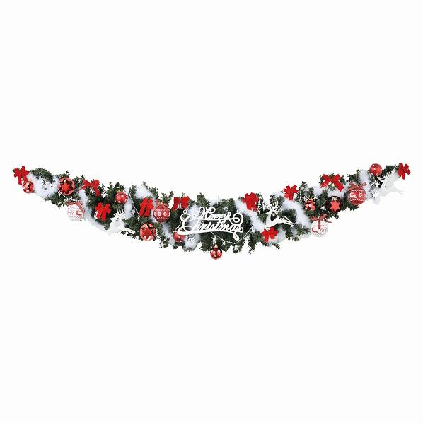 ヨーロピアンガーランド ノルディック1セット【クリスマス クリスマスリース ガーランド 店舗装飾 飾り ディスプレイ christmas xmas】【メイチョー】