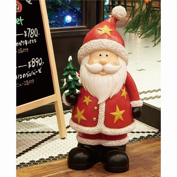 クリスマスモチーフ サンタ1台【クリスマス 置物 店舗装飾 飾り ディスプレイ christmas xmas】【メイチョー】