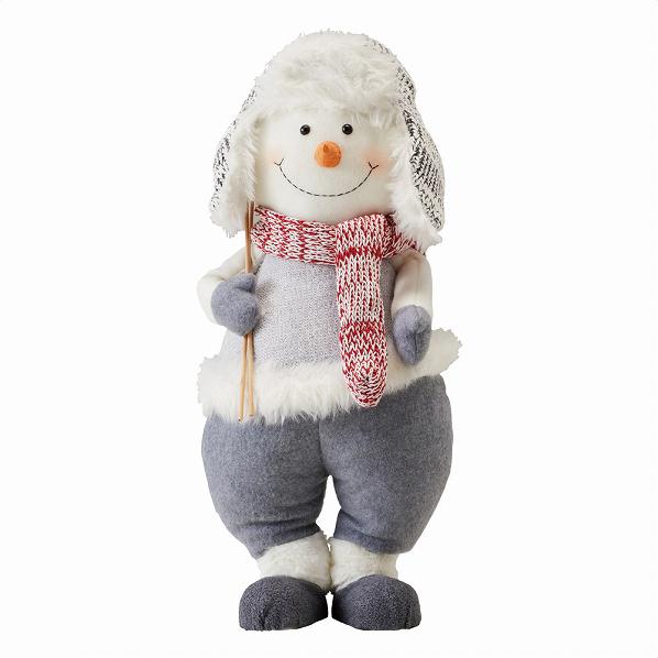 ファブリックスノーマンドール 1個【クリスマス クリスマス 店舗装飾 飾り ディスプレイ christmas xmas】【メイチョー】