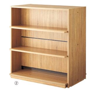 まとめ買い10個セット品 HOLT 両面H135cm 木製パネル付き 安全木棚セット W120cm 1セット 店舗什器 パネル 壁面 小物 ディスプレー 店舗備品 大得価,豊富な