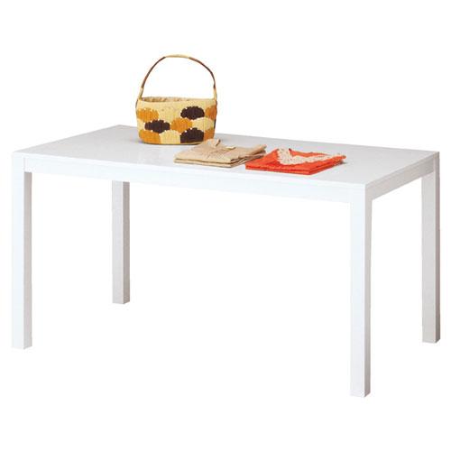 木製ショーテーブル ホワイト W150×D80×H80cm 【メーカー直送/代金引換決済不可】店舗什器 ディスプレー マネキン 装飾品 販促用品 ハンガー ラッピング