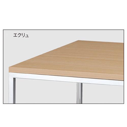 クロームショーテーブル W120×D80×H80cm エクリュ 【メーカー直送/代金引換決済不可】店舗什器 ディスプレー マネキン 装飾品 販促用品 ハンガー ラッピング