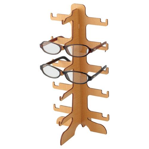 【まとめ買い10個セット品】 木製メガネディスプレー 5本用【ディスプレイ用品 店舗什器 メガネスタンド メガネディスプレイ メガネ 眼鏡 めがね サービス 日用品 展示 業務用 】