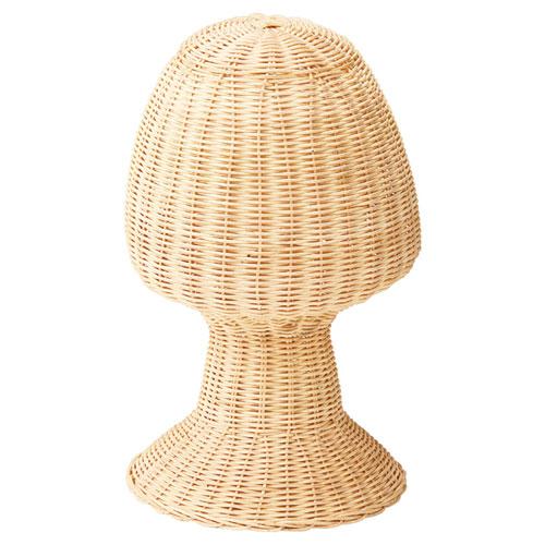 【まとめ買い10個セット品】ラタン製帽子掛け 生成り【 店舗什器 パネル ディスプレー 棚 ハンガー 店舗備品 】