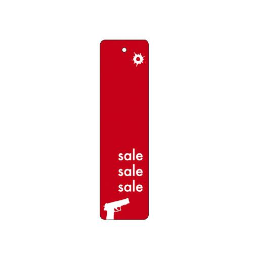 【まとめ買い10個セット品】 肩付けポップ 赤 200枚【販促用品 ポスター POP 店舗備品】
