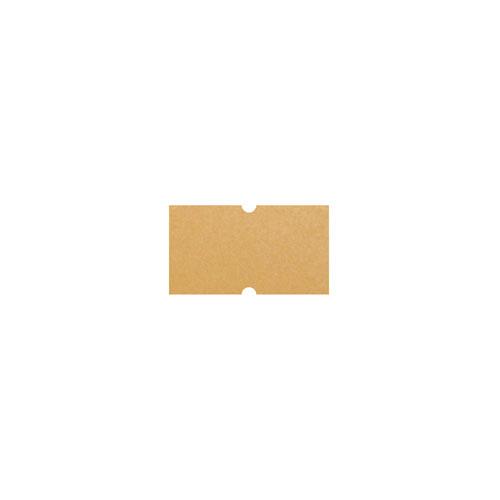 【まとめ買い10個セット品】 共用シール クラフト無地(強粘) 10巻【店舗什器 スーパー 値札 賞味期限など印字 消耗品 店舗備品】