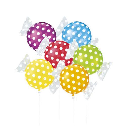 【まとめ買い10個セット品】 キャンディシェイプバルーン ドット 30個【店舗備品 店舗インテリア 店舗改装】