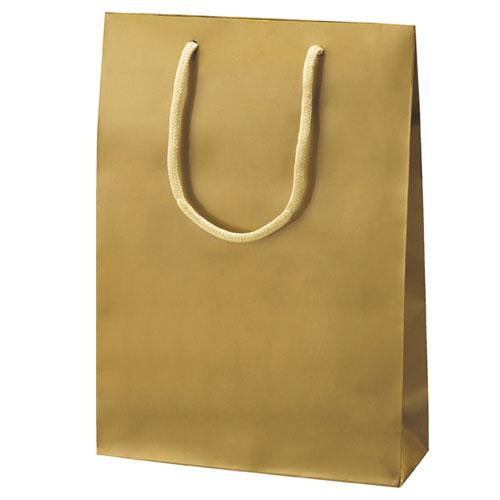 【まとめ買い10個セット品】 手提げ紙袋 ゴールド 22.5×8×32 10枚【店舗備品 包装紙 ラッピング 袋 ディスプレー店舗】