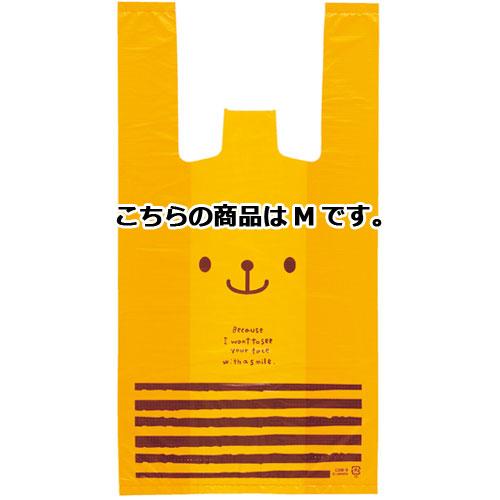 うさクマ レジ袋 Mクマ 24cm 4000枚【 送料無料 】【 ラッピング用品 包装 ラッピング袋 うさクマ 消耗品 かわいい 業務用 】