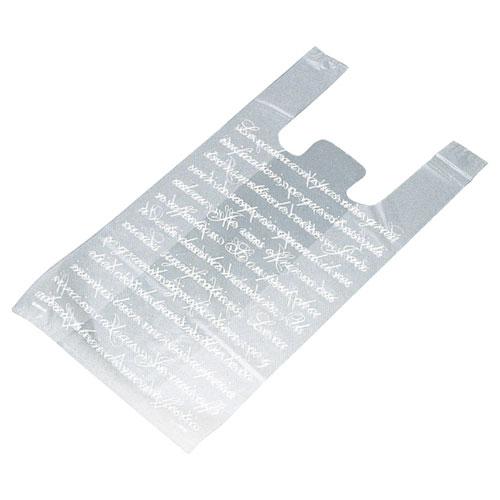 【まとめ買い10個セット品】 フロスト レジ袋 18×35(23)×横マチ10 6000枚【店舗備品 包装紙 ラッピング 袋 ディスプレー店舗】