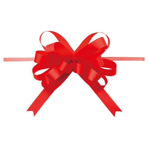 【まとめ買い10個セット品】 ループボウ レッド 50個【店舗備品 包装紙 ラッピング 袋 ディスプレー店舗】